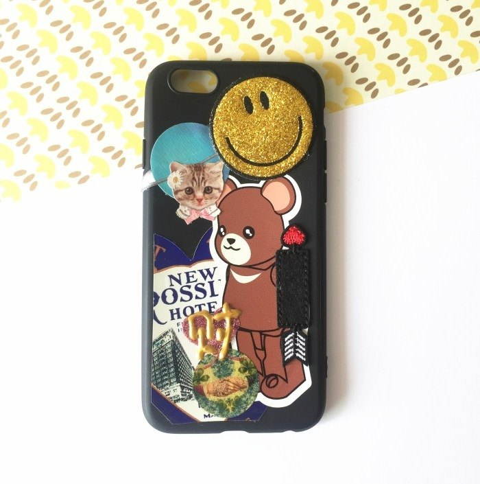 Magichands手作拼贴猫咪笑脸手机壳iphone66s
