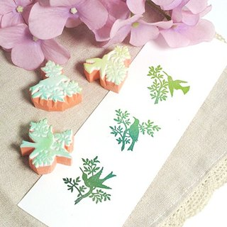 Apu Handmade Rubber Stamps Elegant Hummingbirds Silhouettes Set of 3 Packed Account Stamps