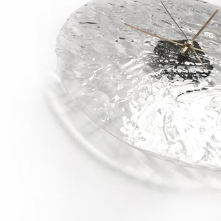 [Sea material, transparent, handmade wall clock] 30cm