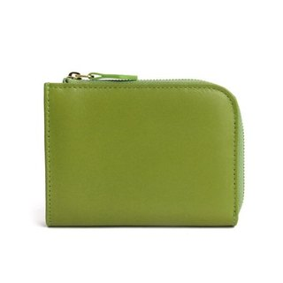 韓國Socharming-Tidy Leather Wallet-Green