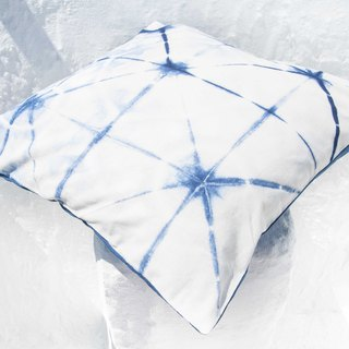 Blue dyed pillowcase / cotton pillowcase / printed pillowcase / indigo blue dyed pillowcase - blue dyed star