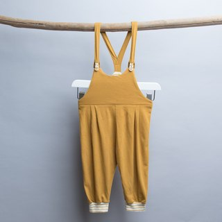 Knitted suspenders - mustard yellow hand-made non-toxic children's wear suspenders