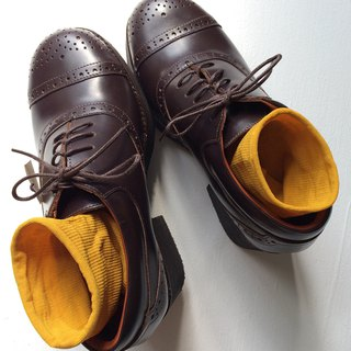 70s Oxford Platform Leather Shoes