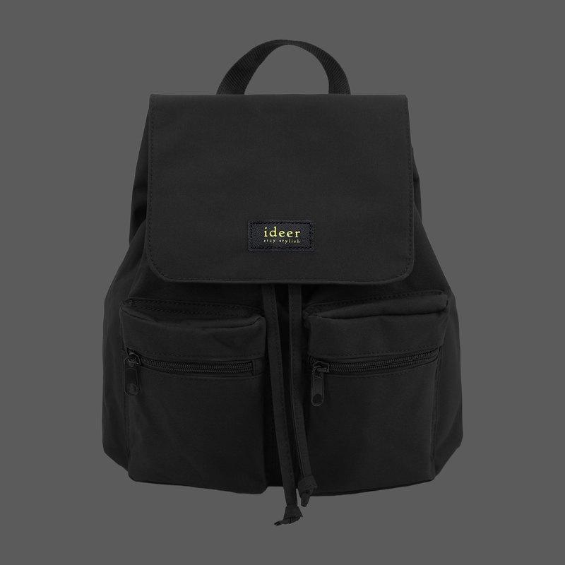 防潑水黑色尼龍超輕背包 後背包 電腦包 旅行 書包
