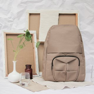 ORIBAGU Origami gorilla brown backpack bag _
