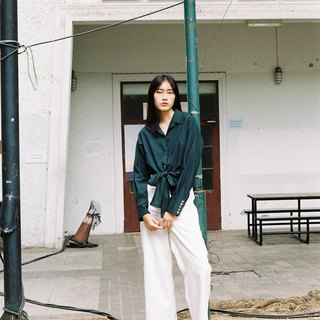 Tie Shirt Long sleeves (Green)