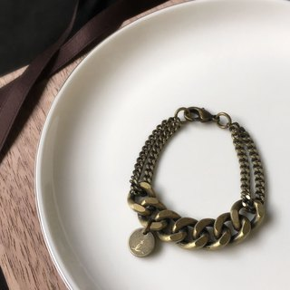 SAMEDi - personalized mosaic grinding chain - bronze