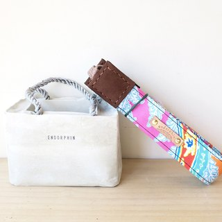 [Endorphin] manual camera strap leather + cotton + metal buckle [2017 spring and summer new]