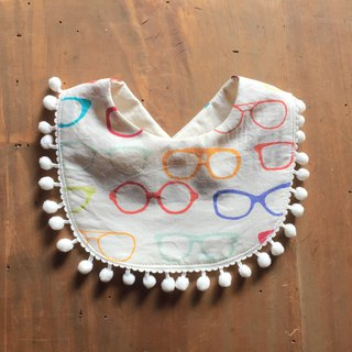 Organic Cotton Bib / Colorful glasses