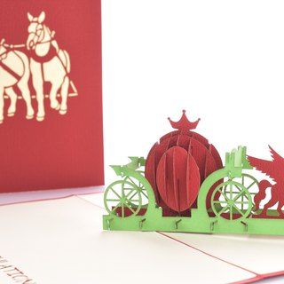 3D handmade pumpkin carriage 3D universal card series