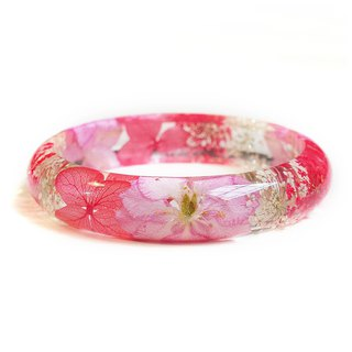 FlowerSays / Delphinium Real Flower Bracelet / Red Collection / Eternal Flowers