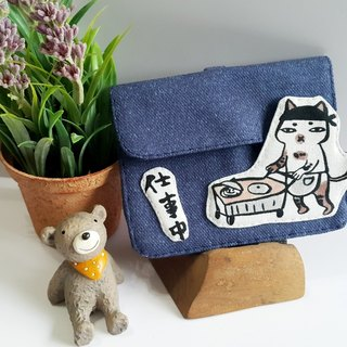 Mini bear hand made 喵喵 事 中 multi-function small bag ID package set exclusive
