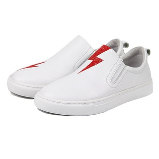 Spark M1184 White Leather Sneaker