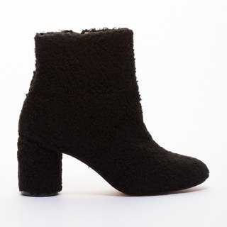 [Saint Landry] sweet lamb's wool boots - warm black