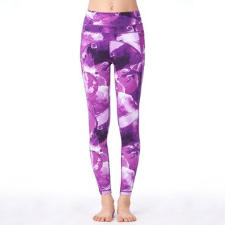 [MACACA] Slim Hip Bone Pocket Cropped Pants - ASE7171 Purple Print