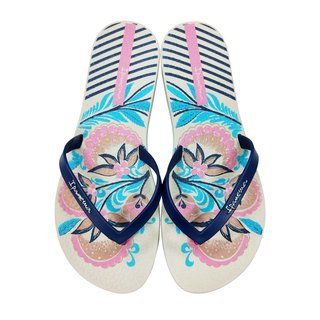 IPANEMA Colorful Flower Flip Flops Women:: Beige::
