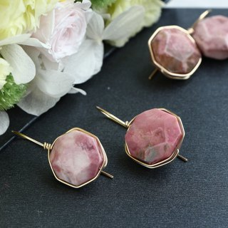 14kgf- Rose candy wrap pierced earrings
