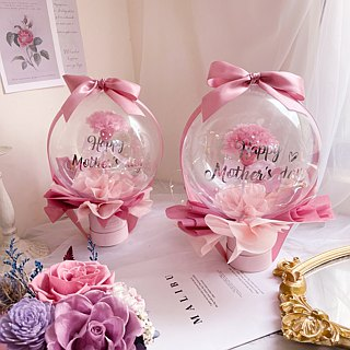 WANYI does not wither flower rose key ring (pink) dry flower / wedding small things / birthday / Valentine's Day