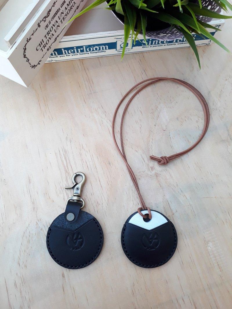 gogoro鑰匙皮套(皮繩款)  │義大利植鞣革 手染上色 可烙印(10字)