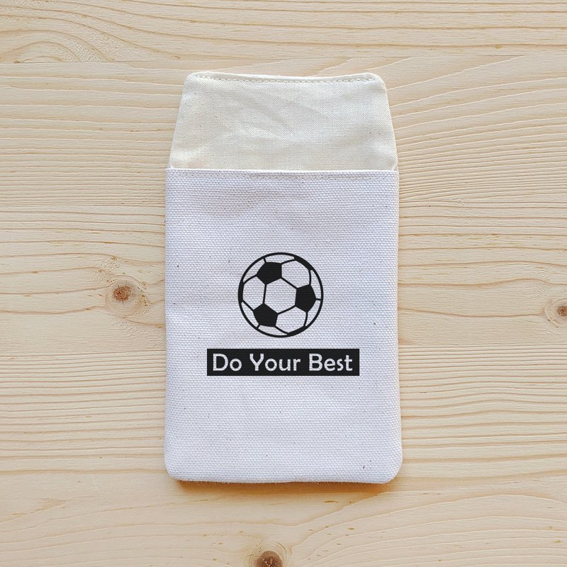 Love sports _ football simple pocket pencil case