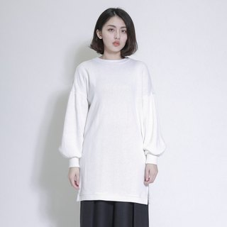 Spindrift Spray Wide Sleeve Long Top _7AF009_米白