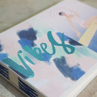 Crocodile Miss Vibes French handmade book