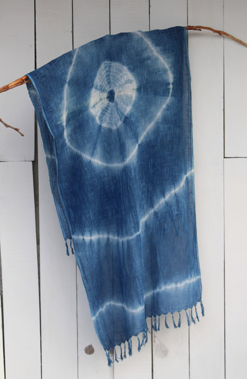 Free to stain isvara blue dye scarf energy series 200
