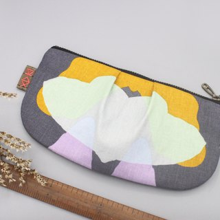 Peace Multi-purpose bag - geometric butterfly, feel cotton, pencil case, storage bag, glasses bag