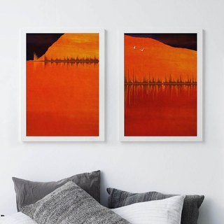 Guest sound art art decorative painting sound of the scenery A3 a total of two