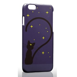 Cute Black Cat iPhone X 8 7 6s Plus 5s Samsung S7 S8 S9 Mobile Shell Phone Case