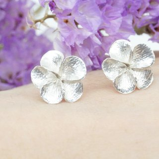 Snow / Tong flower / sterling silver earrings (small)