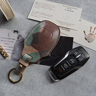 Ford Ford car key set Italy imported wax wax leather handmade leather design customized