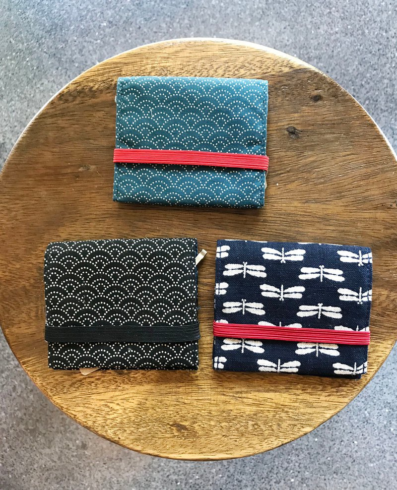 Pocket size wallet Japanese fabric