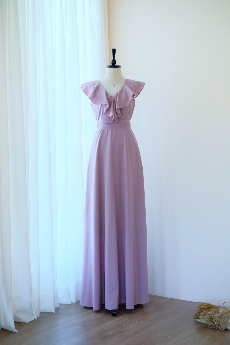 Purple Mauve Maxi dress Summer dress Bridesmaid dress Cocktail party dress