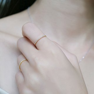 Simple small diamond ring