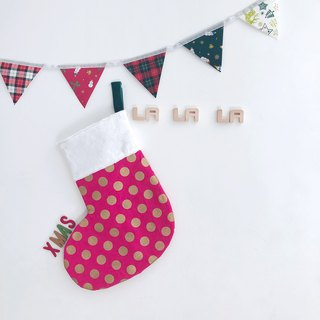[La la la] Snowballs Christmas stockings pink peach 咚咚 Christmas ornaments