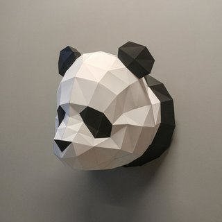 3D Paper Model_Panda Wall Decoration_DIY Kits_Hand-made Combination