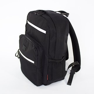 Water-repellent Nylon Multipurpose Backpack / Black