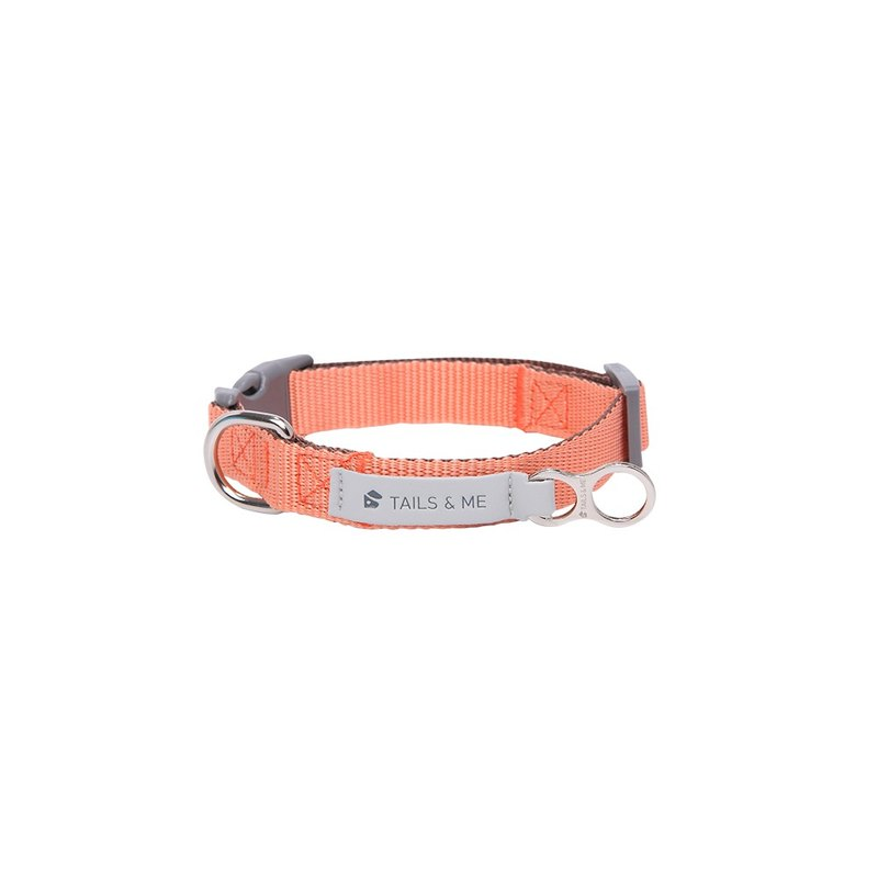 [Tail and me] classic nylon collar collar pink / dark brown