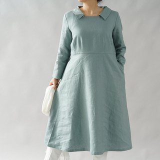 linen dress / square neck dress / A line dress / midi dress / a55-19