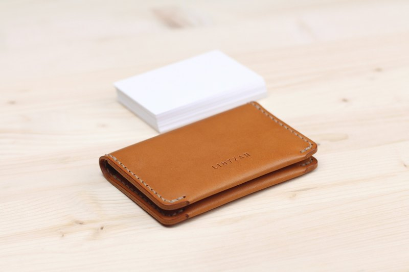 Classic 20% Business Card Holder/Card Holder - Camel Yellow
