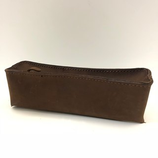 Sense You - taste South American natural leather vegetable tanned leather handmade pencil case
