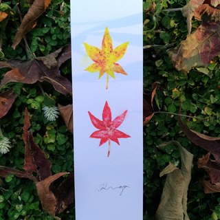 Maple leaves - Watercolor Bookmark Print