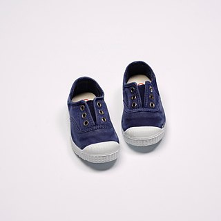 Spanish nationals canvas shoes CIENTA children's shoes wash old dark blue incense shoes 70777 84