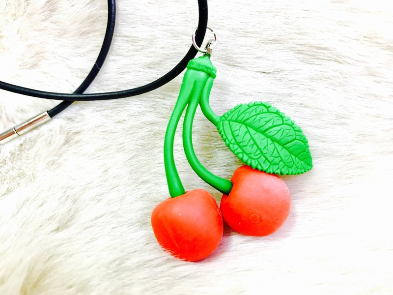 Beautiful cherry necklace collar of eraser