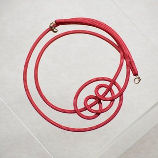 Lussli | Knitted Necklace - STAY (Dark Red)