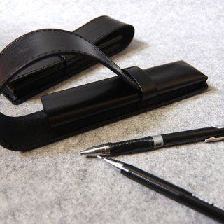 YOURS hand leather leather pencil case 2 into the equipment (for pen LAMY series) personality black leather