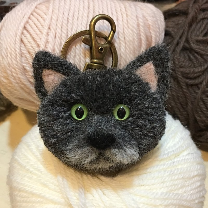 Handmade mini cat baby key ring