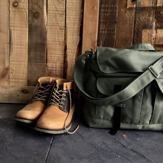 Travel messenger bag /School laptop bag - Mackenzie in Olive green (no.104)