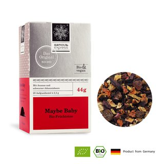 Organic fruit tea raspberry than baby | rich fruit sweet and sour taste | Express tea bag 20 into